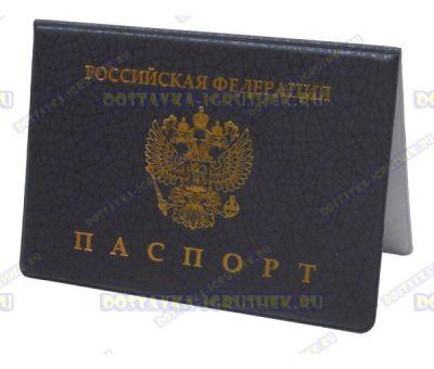 Обложка на паспорт 'Эконом черная сетка' пластик.