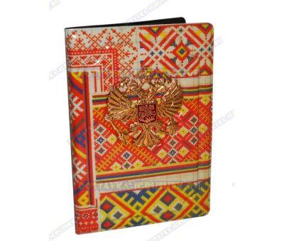 Обложка на паспорт с орлом 'Узоры' пластик, металл,.