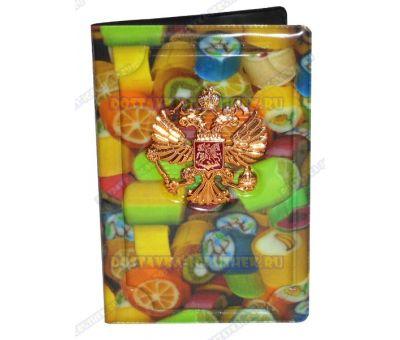 Обложка на паспорт с орлом 'Сладости' пластик, металл,.