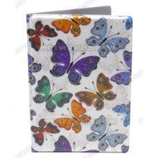 Обложка на паспорт 'Бабочки', пластик.