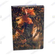 Обложка на паспорт 'Волки', пластик.