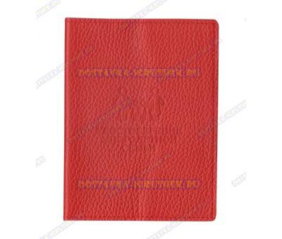 Обложка на Удостоверение многодетной семьи 'Красная рельефная', нат.кожа.