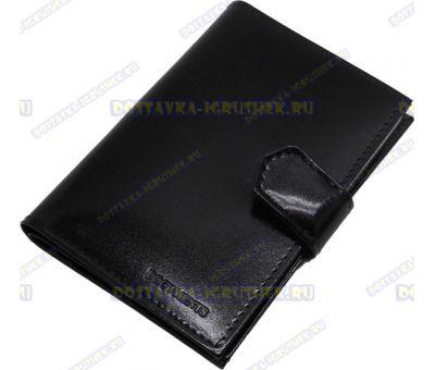 Обложка 2 в 1. Паспорт + автодокументы. 'ARORA ВРЛ-Ф+' черн., н. кожа, глянец.