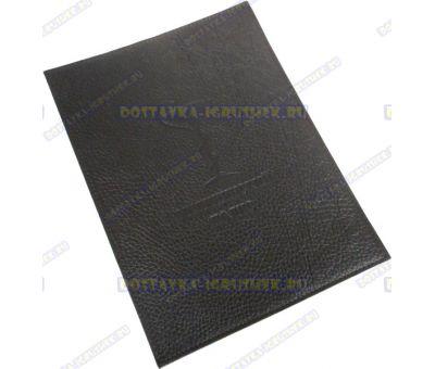 Обложка на Мед. Полис 225х165мм. 'Черная рельеф', нат. кожа.