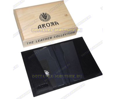 "Обложка на паспорт ""ARORA"" кожа, ручн. работа, подарочн. упаковка"
