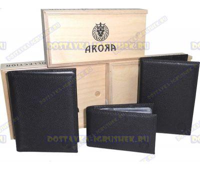 """Набор 3в1 """"ARORA"""" кожа, ручн. работа, подарочн. упаковка"""
