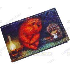 "Визитница-кардхолдер ""Ёжик и медведь"" текстиль."