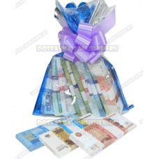 Мешок денег банка приколов. (рубли) 12 пачек+3 в подарок!