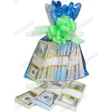 Мешок денег банка приколов. (доллары) 12 пачек+3 в подарок!
