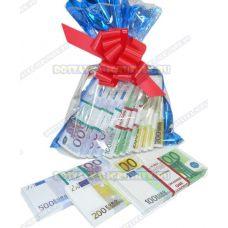 Мешок денег банка приколов. (евро) 12 пачек+3 в подарок!