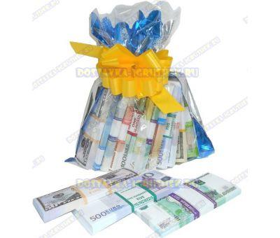 Мешок денег банка приколов. (ассорти) 12 пачек+3 в подарок!