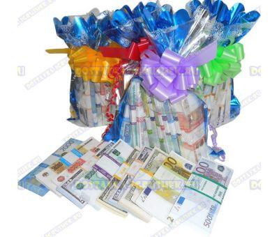 4 мешка денег банка приколов. (разные) 48 пачек+10 в подарок!