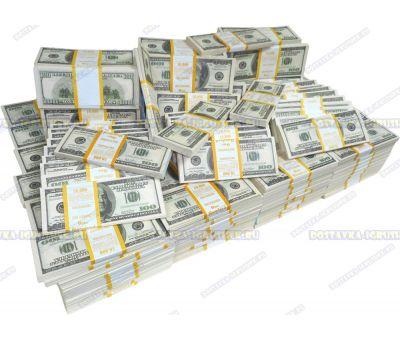 Деньги банка приколов 100 долларов. (300 пачек)