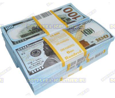 Деньги банка приколов 100 долларов НОВОГО образца. (10 пачек)