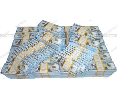 Деньги банка приколов 100 долларов НОВОГО образца. (300 пачек)