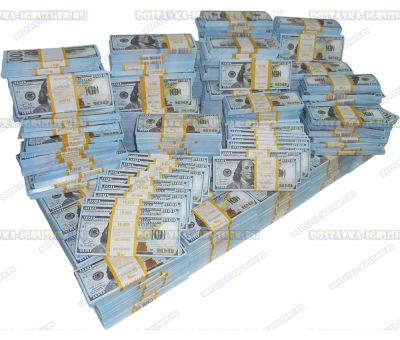 Деньги банка приколов 100 долларов НОВОГО образца. (500 пачек)