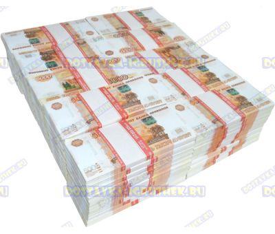 Деньги банка приколов 5000р. (100 пачек)