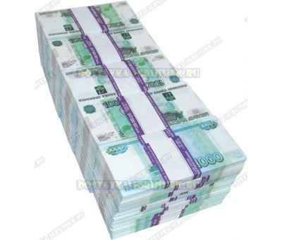 Деньги банка приколов 1000р. (50 пачек)