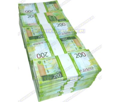 Деньги банка приколов 200 р. (50 пачек)