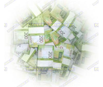 Деньги банка приколов 200 р. (100 пачек)