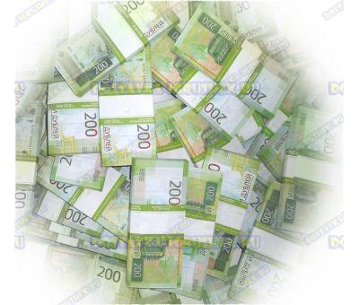 Деньги банка приколов 200 р. (300 пачек)