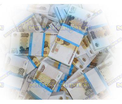 Деньги банка приколов 100р. (100 пачек)
