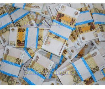 Деньги банка приколов 100р. (500 пачек)
