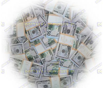 Деньги банка приколов 50 долларов. (100 пачек)