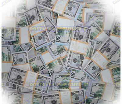 Деньги банка приколов 50 долларов. (300 пачек)