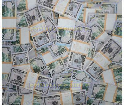Деньги банка приколов 50 долларов. (500 пачек)