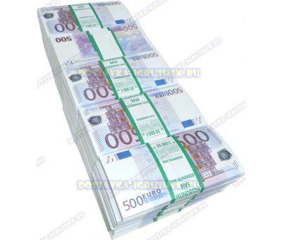 Деньги банка приколов 500 евро. (50 пачек)