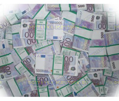 Деньги банка приколов 500 евро. (300 пачек)
