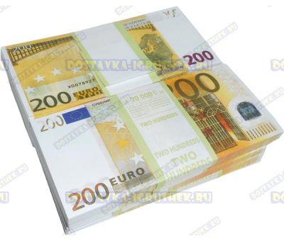Деньги банка приколов 200 евро. (10 пачек)