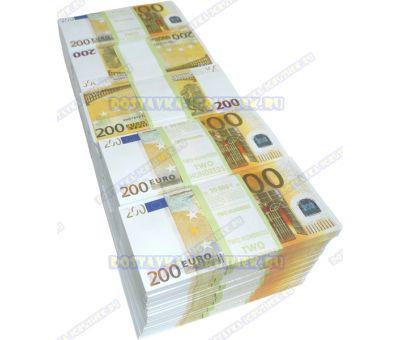Деньги банка приколов 200 евро. (50 пачек)