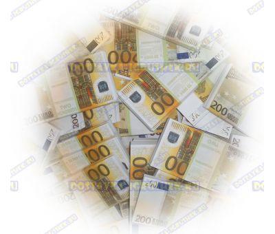 Деньги банка приколов 200 евро. (100 пачек)
