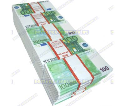 Деньги банка приколов 100 евро. (50 пачек)