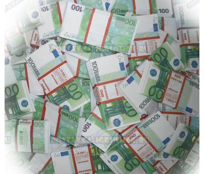 Деньги банка приколов 100 евро. (300 пачек)