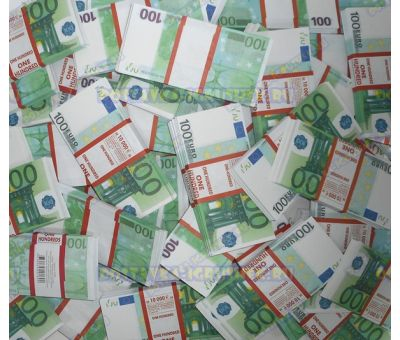 Деньги банка приколов 100 евро. (500 пачек)