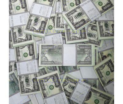 Деньги банка приколов 1 000 000 долларов. (100 пачек)
