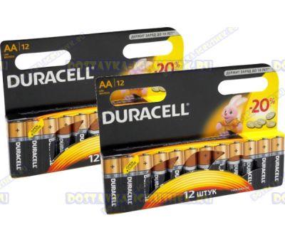 Батарейка DURACELL LR6/MN1500 пальч.(АА) 24шт.