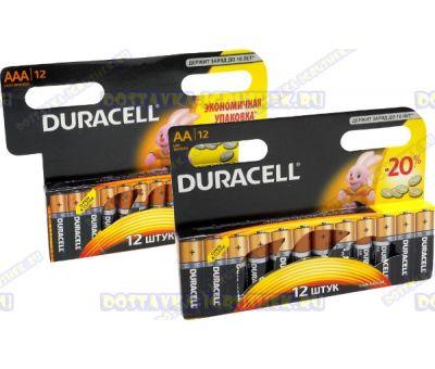 Батарейка DURACELL пальч.(АА) 12шт. и мизинч.(ААА) 12шт.