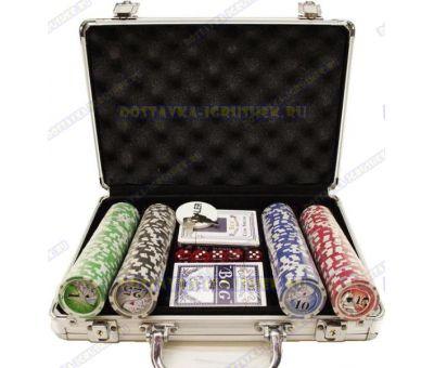 Покерный набор 'Чемодан' 200 фишек.