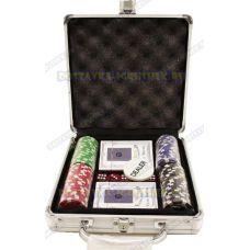 Покерный набор 'Чемодан' 100 фишек.
