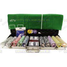Покерный набор 'Чемодан' 500 фишек+сукно.