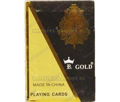 Карты GOLD игр.пластик 54 листа.