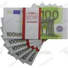 Деньги банка приколов 100 евро. (пачка)