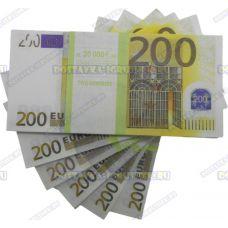 Деньги банка приколов 200 евро. (пачка)
