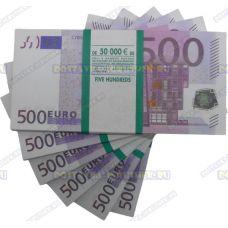 Деньги банка приколов 500 евро. (пачка)