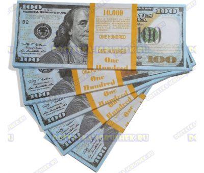 Деньги банка приколов 100 долларов НОВОГО образца. (пачка)