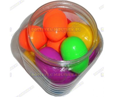"Жвачка для рук ""15 шт. по ~20гр."" ~6см. пласт.яйцо. Банка."